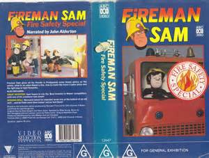 fireman sam fire safety special vhs pal video rare ebay