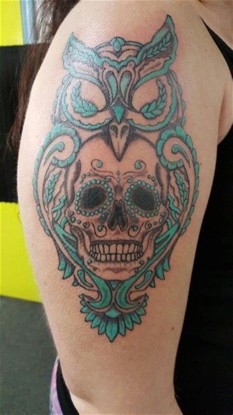 sugar skull owl tattoo owl tattoos and designs that are actually amazing