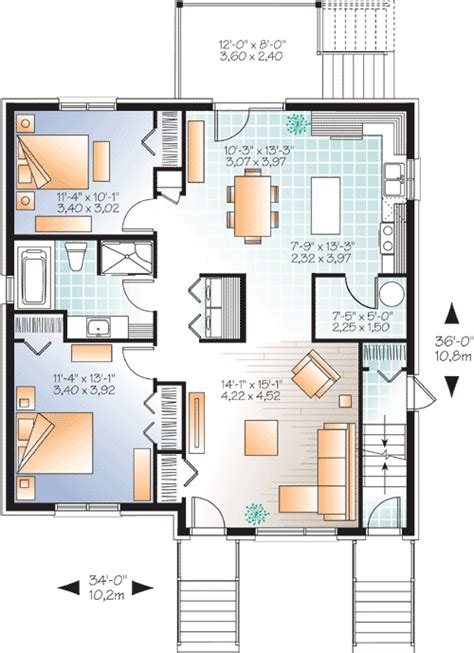 Triplex Floor Plans by Stylish Triplex House Plan 22325dr 1st
