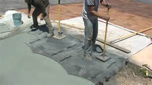 Diy Stamped Concrete Patio Concrete Stamp Tampers Youtube