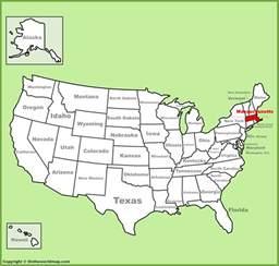 massachusetts location on the u s map