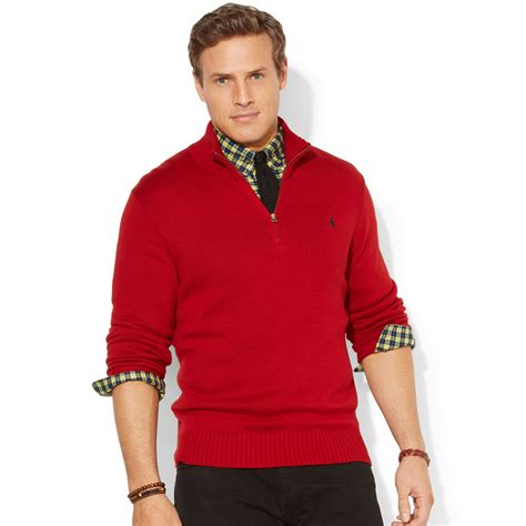 Zipper Sweater Big Size Ducati polo ralph big and half zip mockneck sweater in for lyst
