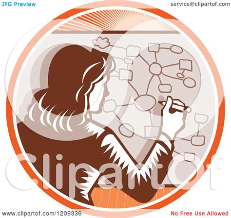 clipart of a retro woodcut clipart of a retro woodcut businesswoman drawing a complex
