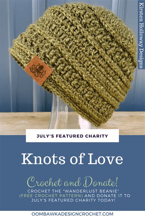 knots of love crocheted and knitted caps for chemo patients and featured charity of the month knots of love oombawka