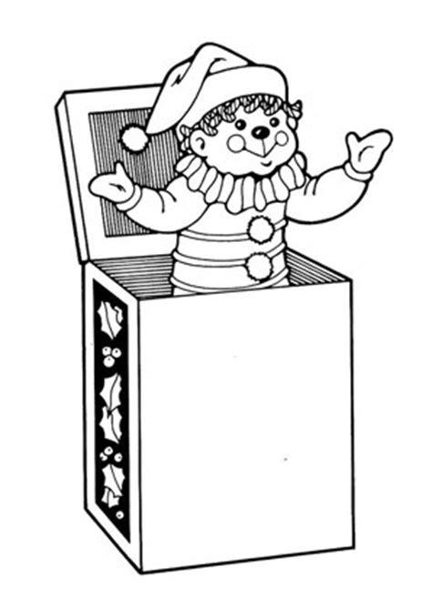 ausmalbilder clown aus der schachtel spielsachen