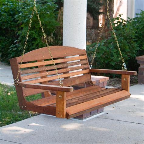 cedar porch swing great american woodies cedar classic porch swing at hayneedle