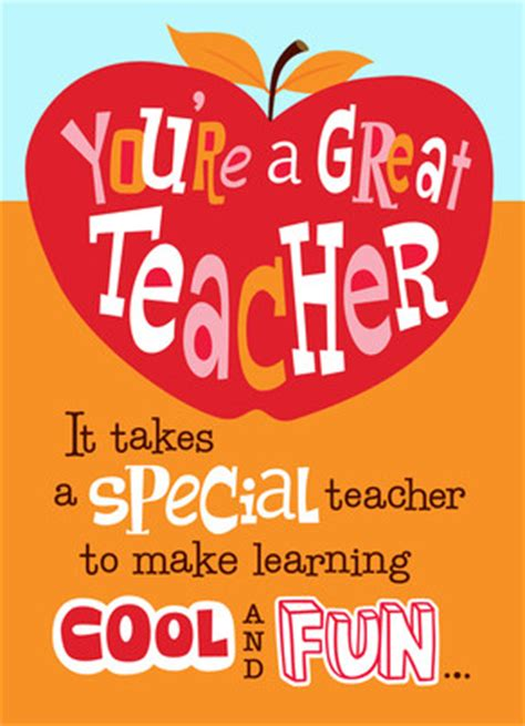 valentines card greetings for teachers apple for s day card cardstore