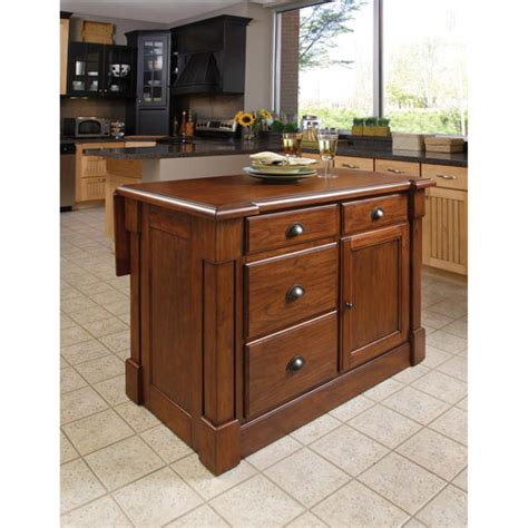 homestyles kitchen island aspen rustic cherry kitchen island home styles furniture