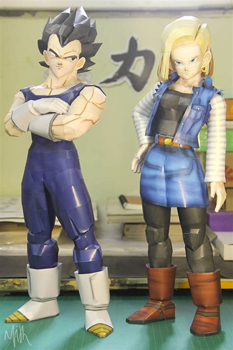 goku wallpaper craft android 18 vegeta paper craft by patilmith on deviantart