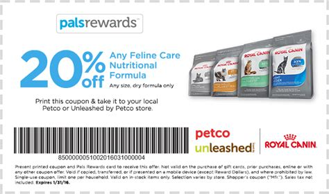 Gift Card Rescue Coupon Code - 20 off any feline care nutrional formula royal canin dry food