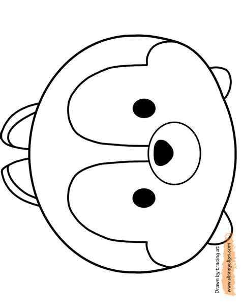 disney tsum tsum coloring pages free coloring pages of tsum tsum donald