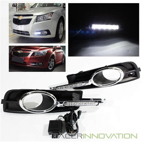 chevy cruze light bar for 2010 2014 chevy cruze fog driving l cover w led