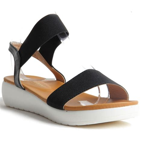 comfortable slip on shoes womens womens ladies slip on platform wedge summer sandals