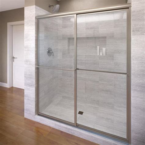 Basco Shower Doors Reviews Shop Basco Deluxe 54 In To 56 In Framed Shower Door At Lowes