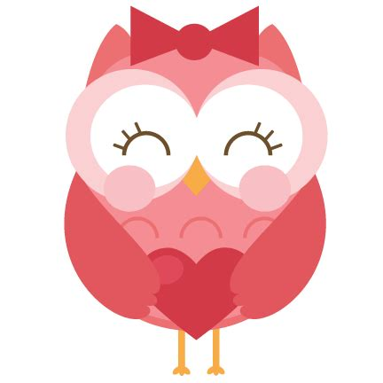 valentines owl bee owl svg cut file for scrapbooking cardmaking