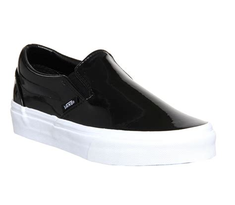 Black Master Boots Slip On Black vans classic slip on shoes patent leather black unisex
