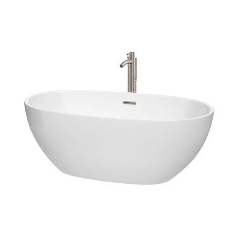 3 ft bathtub wyndham collection juno 5 3 ft acrylic flatbottom non