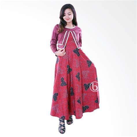 Gamis Bolero Batik Gbl jual gms 231b a baju muslim gamis batik katun bolero merah harga