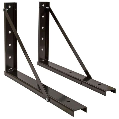 Firewood Rack Brackets by Shelterlogic Adjustable Firewood Rack Bracket Kit 90459 The Home Depot