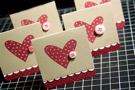 Handmade Valentines - easy handmade valentines day cards ideas