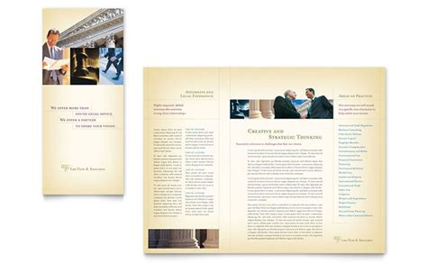 attorney legal services brochure template design