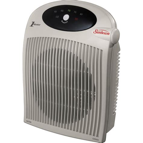 sunbeam sfh442 electric fan forced air compact portable