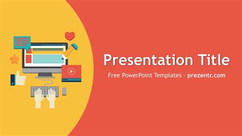 Free Content Marketing Powerpoint Template Prezentr Advertising Presentation Templates