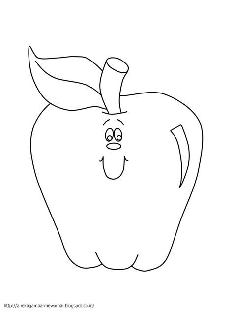 Gambar Mewarnai Buah Apel Untuk Anak PAUD dan TK