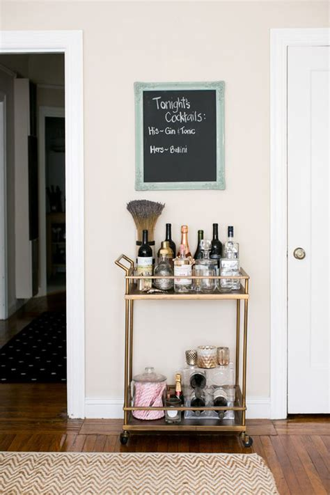 Small Home Bar Cart 20 Styling Bar Carts For Every Home Home Design And Interior
