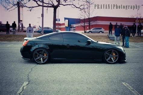 Sweety Silver M60 black on black g37 coupe hella flush cars