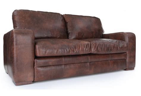 vintage leather sofa bed urbanite vintage leather 3 seater sofa bed from old boot