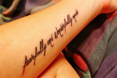 i am fearfully and wonderfully made tattoo fearfully and wonderfully made ink piercings
