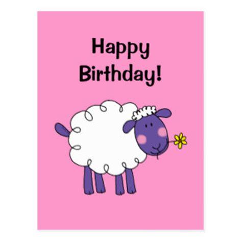 Sheep Birthday Card Happy Birthday Sheep Cards Zazzle