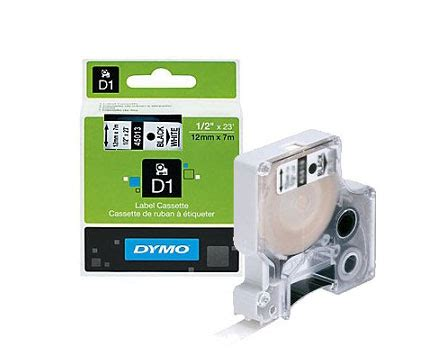 dymo label cassette dymo d1 label cassette 9mm x 7m black on white