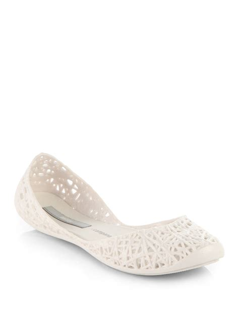 Marc Jelly Ballet Pumps by Cana Glitter Jelly Ballet Flats In White Lyst