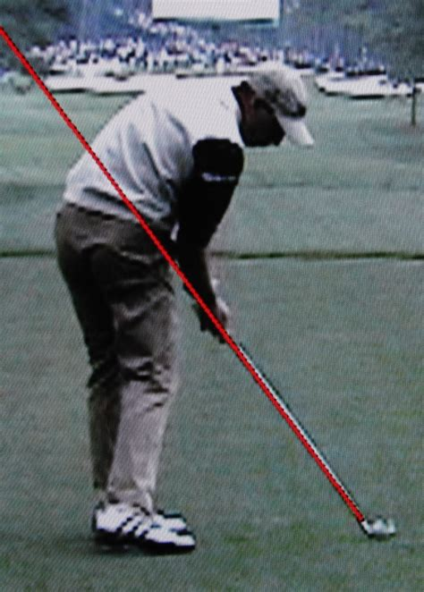 line swing shaft angle at impact