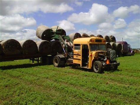 The Of The Dakota Bale school turned into hay bale loader on south dakota