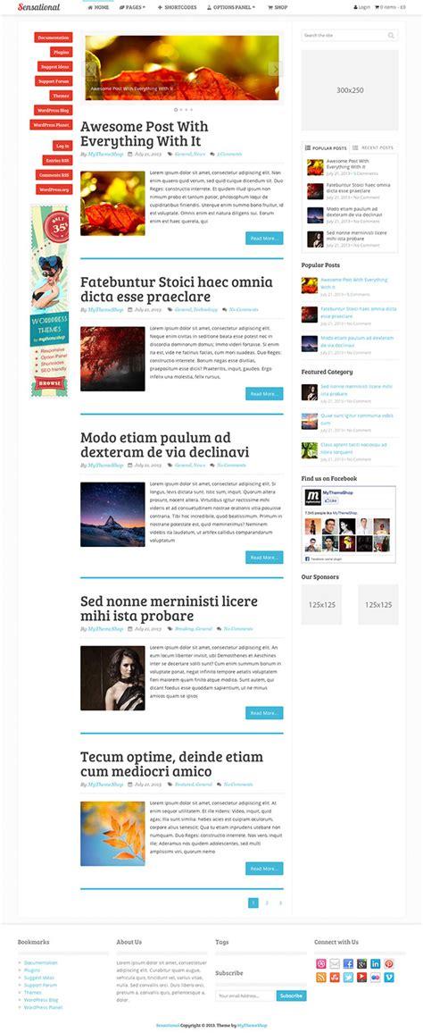 sensational theme blog theme wordpress themes mythemes4wp