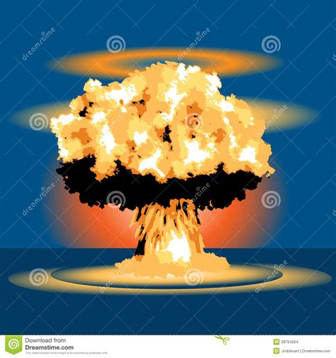 Armaggeddon Nuke 7 Yellow nuclear blast stock images image 28764264