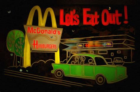 lets eat out let s eat out painting by l wright