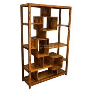 Sheesham Wood Bookcase Gaya Cube Sheesham Multi Shelf Display Unit Bookcase