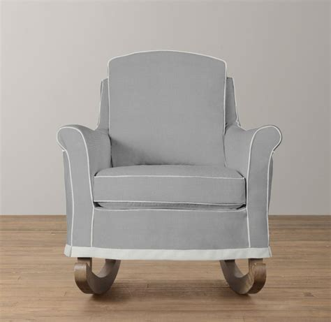 slipcovered rocker roll arm rocker with slipcover nursery seating