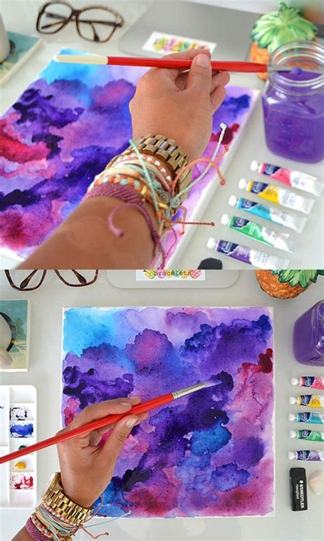 tutorial watercolor background diy watercolor wall art pura vida bracelets watercolor