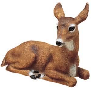 doe deer garden statue outdoor animal lawn yard decor ebay