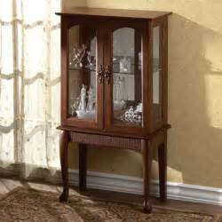 Small Curio Cabinet With Glass Doors Small Standing Curio Cabinet Display Need Something Like This Display Collections