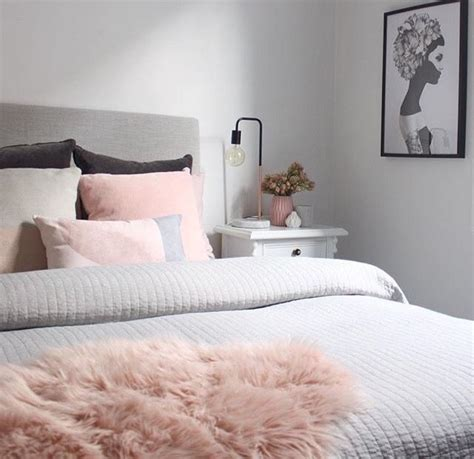 Beautiful Light Pink And Grey Bedroom Images Home Design Light Pink Bedroom