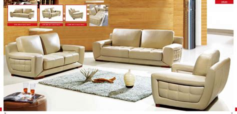 Esf 3 Piece 2520 Genuine Italian Leather Sofa Set Italian Living Room Set