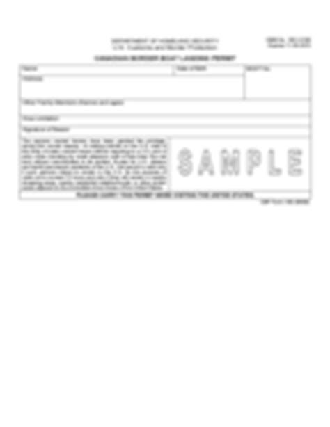 boat landing permit cbp travel form 15 free templates in pdf word excel
