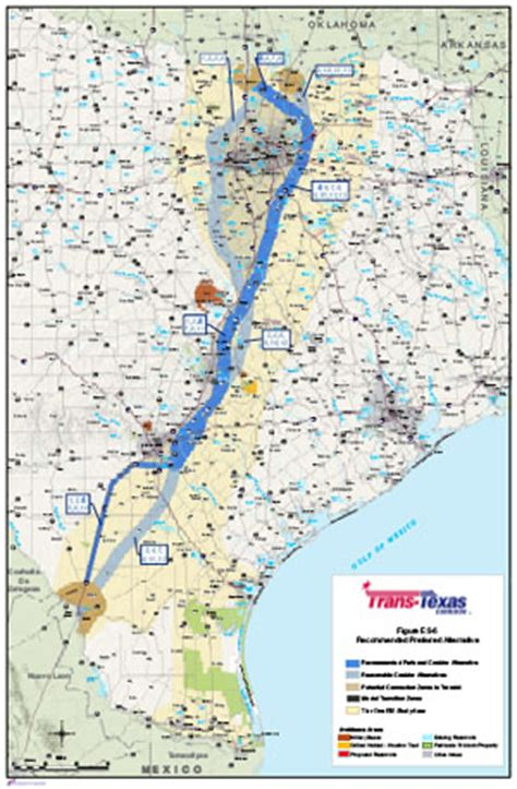 trans texas corridor map richard d vogel quot nafta corridor update quot