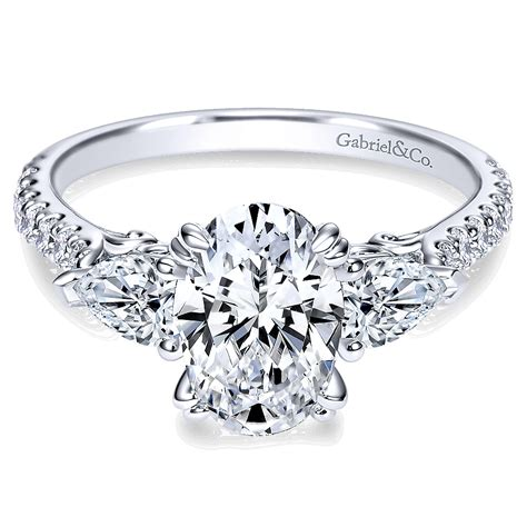engagement stones gabriel co engagement rings 3 0 58ctw